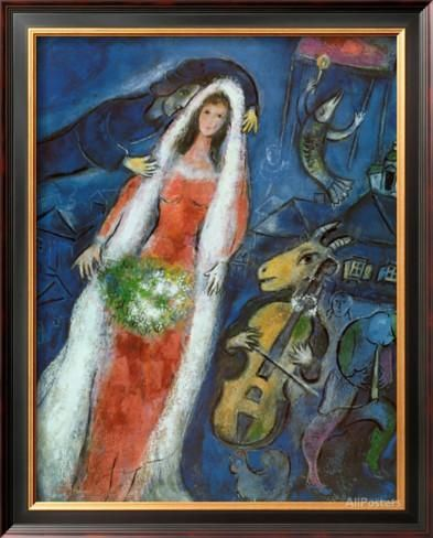 La Mariee Print by Marc Chagall at AllPosters.com