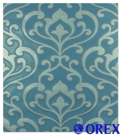 tapete wohnzimmer hell: Tapete 795028 blau Tapeten Rasch Queens 2013