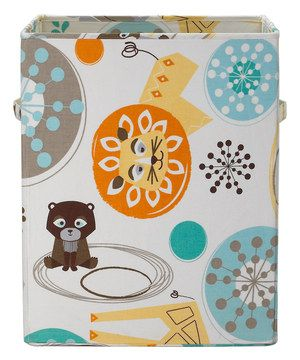Love this Lolli Living Menagerie Zig Zag Zoo Hamper by Lolli Living on #zulily! #zulilyfinds