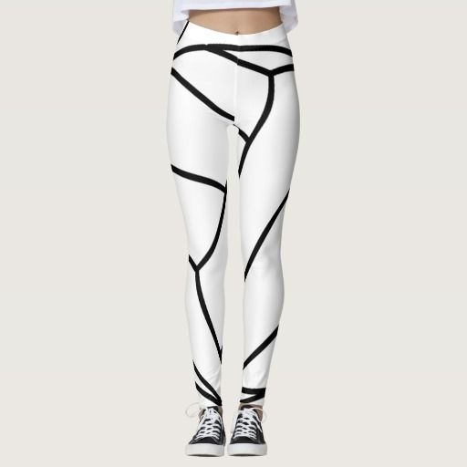 Cool Volleyball Leggings White or Change the Background to Your Team Color. CLICK: http://www.zazzle.com/z/3bpcf Black and White volleyball leggings colors can be changed to any color. Call the Zazzle Designer, Linda, to change the black volleyball lines color. 239-949-9090 I can create hundreds of volleyball apparel, shirts, jackets, workout clothes, sweatshirts etc. More personalized volleyball gifts HERE…