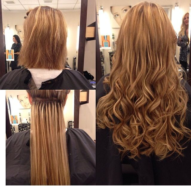 Stylish with the light blonde hairstyle. U girls can refuse this?Micro Loop hair extensions long lasting!