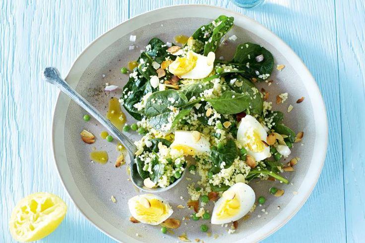 Dit vegarecept met frisse spinazie staat in 15 minuten op tafel - Recept - Allerhande