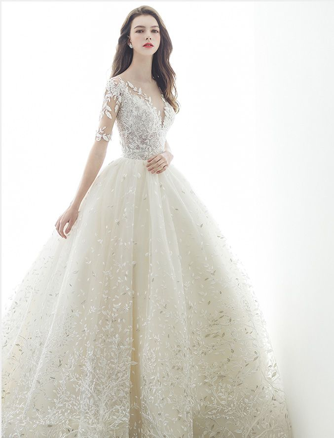 This Nature Inspired Ball Gown From Aiteo Featuring