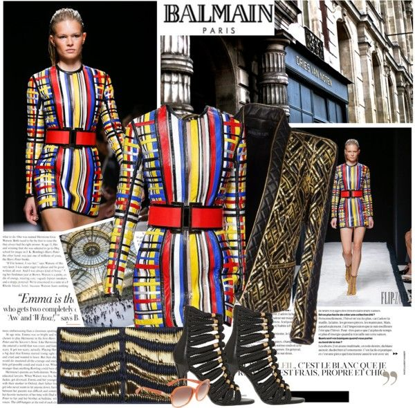 """""""Balmain S/S 2015"""" by misslcb ❤ liked on Polyvore"""