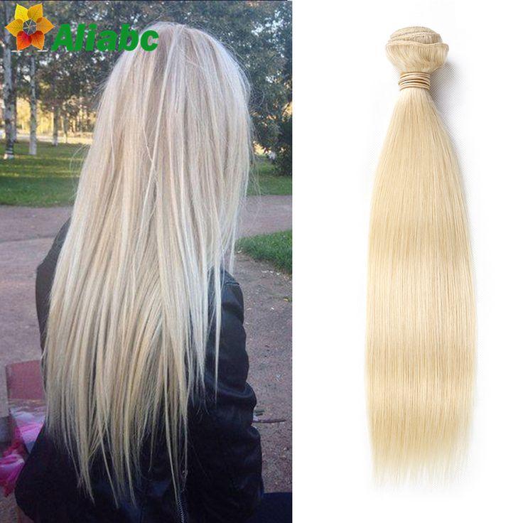 Blonde braziliaanse rechte 613 blond haar weave blond haar extensions 1 bundel/veel platina blonde maagd haar