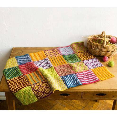 色を楽しむ1枚約2時間編むことが楽しくなる棒針編みの色合わせ|「はじめてさんのきほんのき」風工房さんに教わる 棒針編みの色合わせレッスンの会