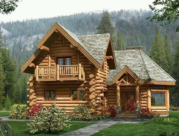 Charming log home love log cabins living pinterest for Log cabin dream homes