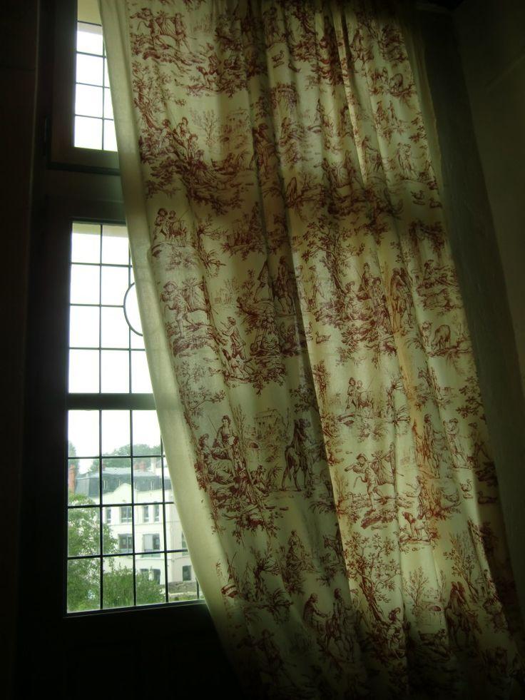 Musée Jean de La Fontaine   Château Thierry France   window view curtain toile de jouy   vsbl photography