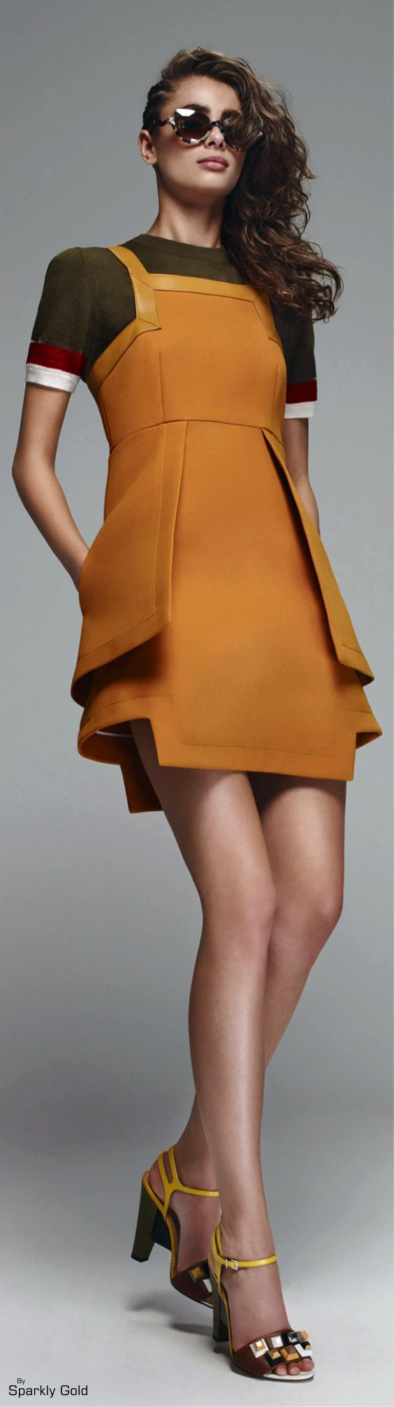 Fendi Resort 2016 women fashion outfit clothing style apparel @roressclothes closet ideas