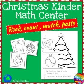 Grade / Year Level :: Primary Education :: Foundation - Year 2 :: Christmas Kinder Maths Centre Activities Cut & Paste Craft Counting Numbers 0-10