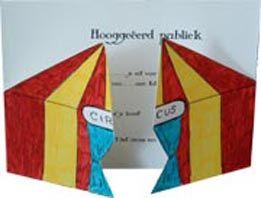 goedkope circus kinderfeest uitnodiging