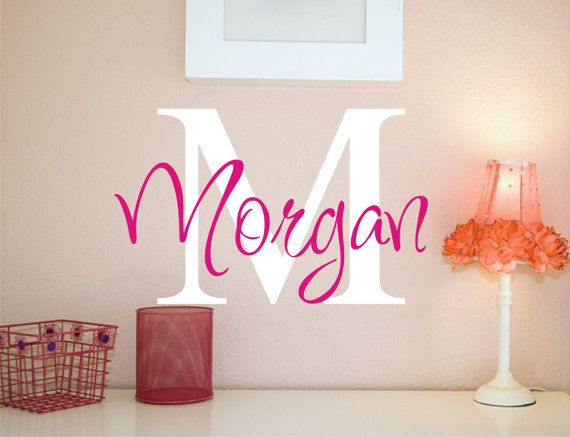 Personalized Childrens Decor or Nursery Monogram Vinyl Lettering Wall Art Decal - Vinyl Decal