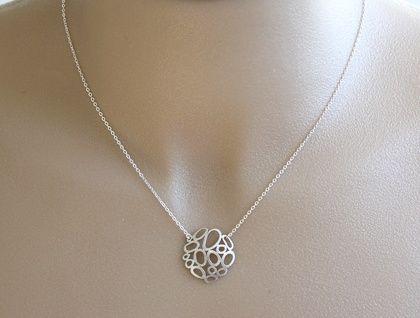 Silver Bubble Necklace | Felt