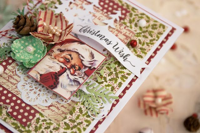 Christmas card with Santa #cardmaking #scrapbooking #authentique #christmascard