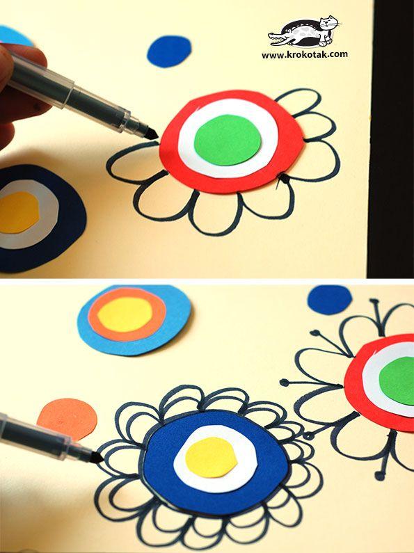How to draw FLOWERS   krokotak