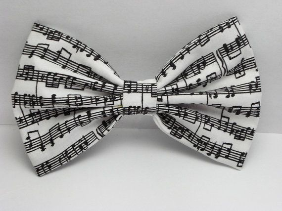 Musical Notes Hair Bow Clip Musical Notes Bow Music by JuicyBows