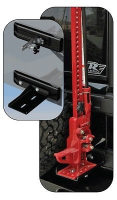 Rampage Hi Lift Jack Mounting Kit 2007 2014 Jeep Wrangler JK 86612 Black   eBay