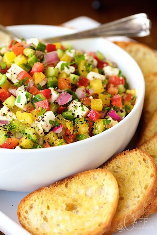 Winter Market Bruschetta - a fabulous, fresh appetizer, perfect anytime of year but especially wonderful in the off season when sunny warm skies and fresh produce seem like a distant memory.