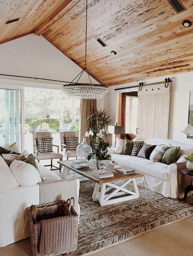 Stunning Rustic Farmhouse Living Room Decor Ideas