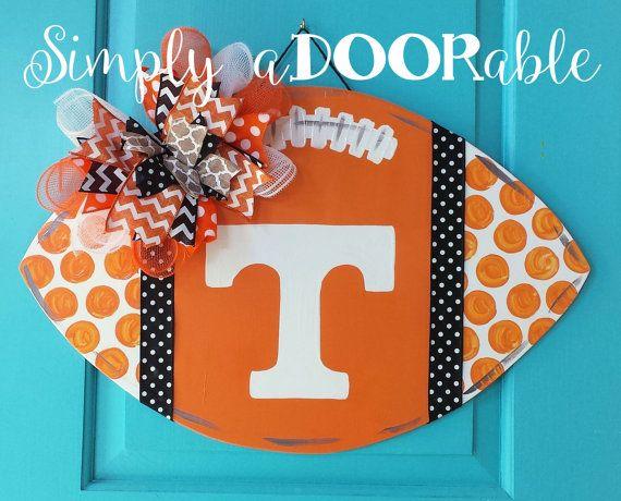 Tennessee VOLS Football Wood Door Hanger by SimplyaDOORableNC