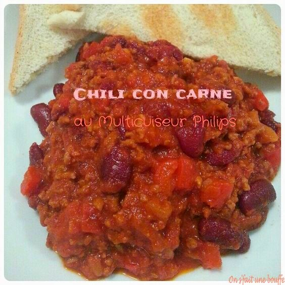 Chili con carne au Multicuiseur Philips