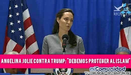 """Angelina Jolie le responde a Donald Trump: """"El Islam es una religión hermosa y debe protegerla"""""""