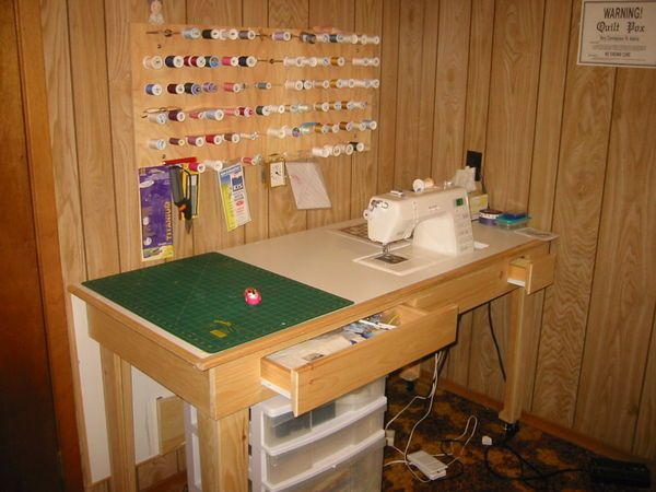 I Like The Small Drawer To The Right Of The Sewing Machine