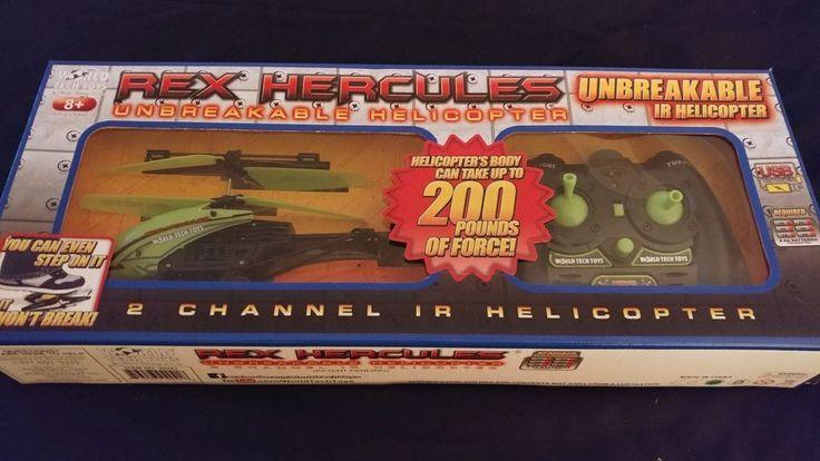 World Tech Toys Rex Hercules UNBREAKABLE 2CH RTF IR RC Helicopter #WorldTech