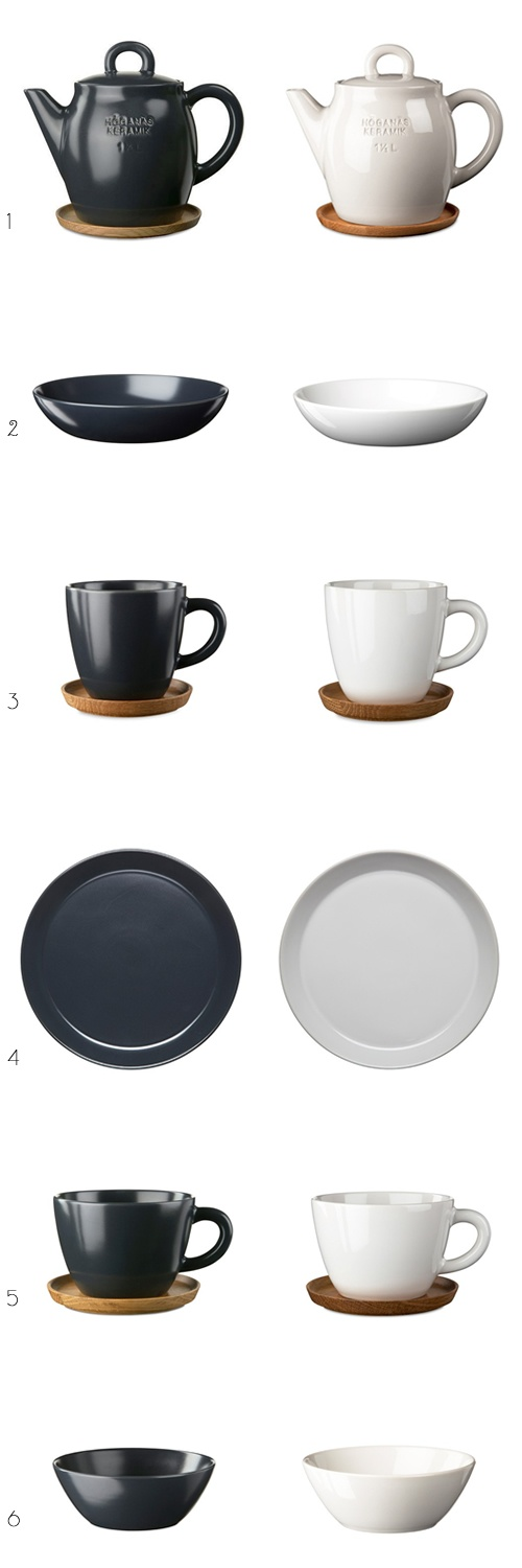 Beautiful ceramics by Swedish company, Höganäs Keramik.