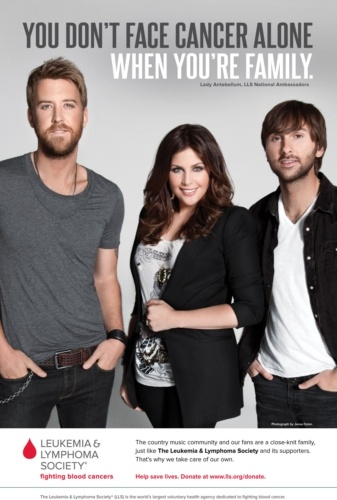 GRAMMY Winning Country Music Trio Lady Antebellum Joins The Leukemia & Lymphoma Society In National Awareness Campaign