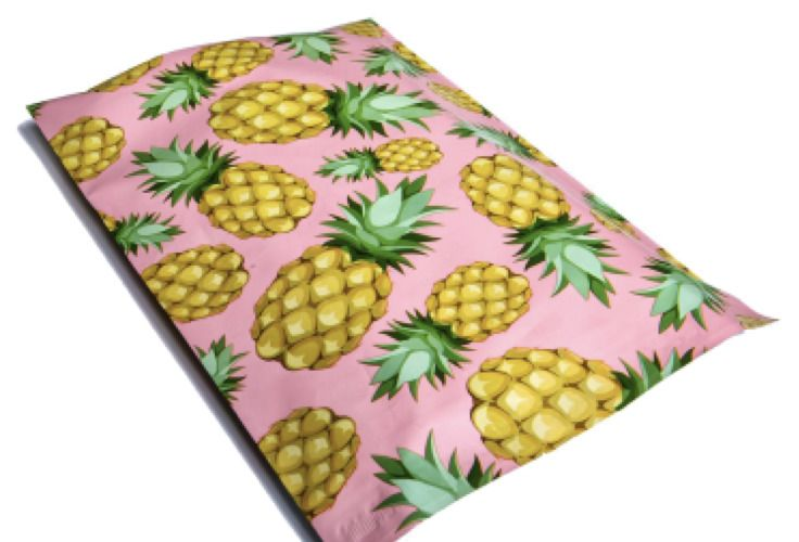 100 PINEAPPLE 10x13 Pink & Yellow Poly Mailers Shipping Envelopes Bags  #UnbrandedGeneric