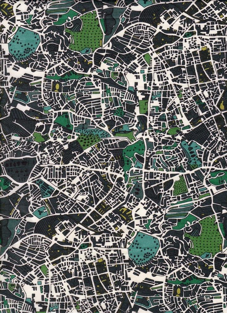 Mapa London%0A Liberty of London Grey Sydenham Palace in Green Tana Cotton Lawn