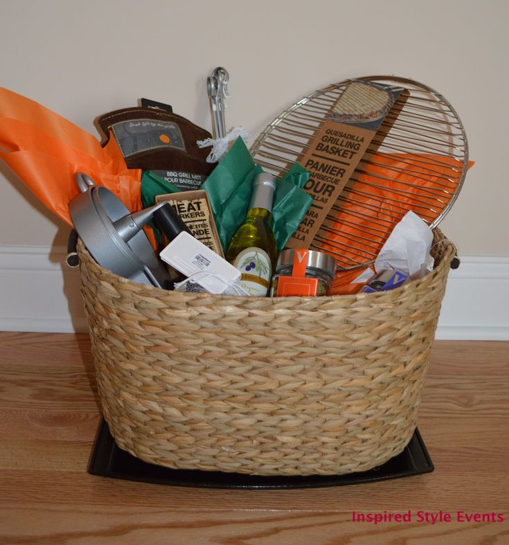 gifts to give for bridal shower games%0A Easy to put together  a DIY Grilling theme bridal shower gift basket   wedding