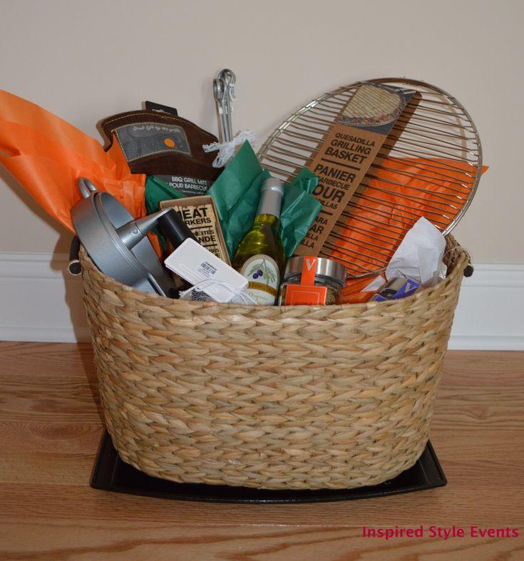 put together, a DIY Grilling theme bridal shower gift basket #wedding ...