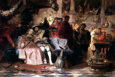 Jindřich VIII. a Anna Boleynová (1872) Karl Theodor von Piloty