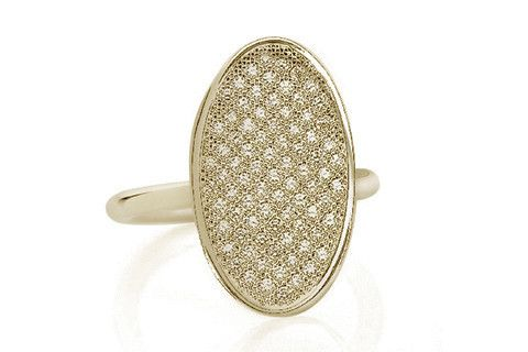 Yellow Gold Pavé Ring