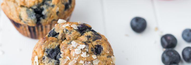 Découvrez la recette 'Muffins banane myrtille et flocons d'avoine' avec Canderel