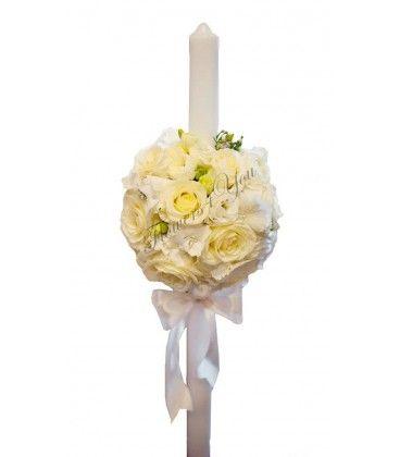 Lumanari nunta trandafiri lisiantus hortensia