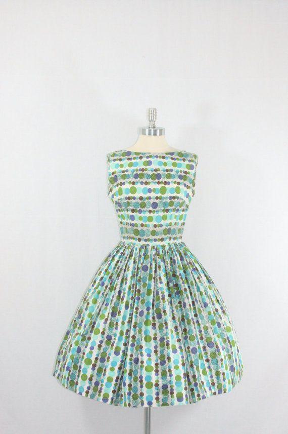 Polka Dot Fashion  Cotton Summer Dress  by VintageFrocksOfFancy, $120.00