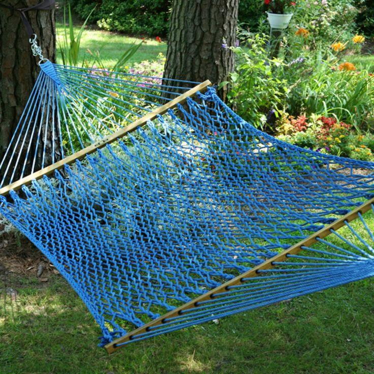 Best 25 rope hammock ideas on pinterest crochet hammock for Make a rope hammock