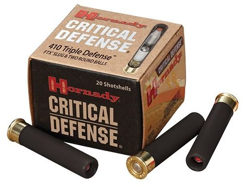 "HORNADY - CRITICAL DEFENSE 410 GAUGE 2.5"" TRIPLE 20 ROUNDS sale at Ammoking Online Store"