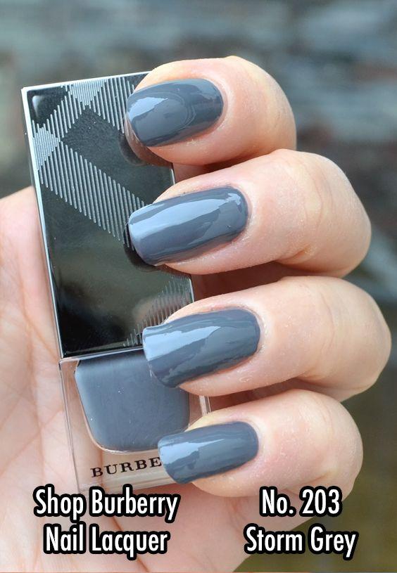 Burberry Beauty Nail Polish #Burberry #NailPolish #Affiliate #Nails #StormGrey