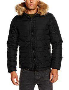 Schott Nyc Rocky2 – Doudoune – À capuche – Manches longues – Homme – Noir (Black) – X-Large (Taille fabricant: XL)