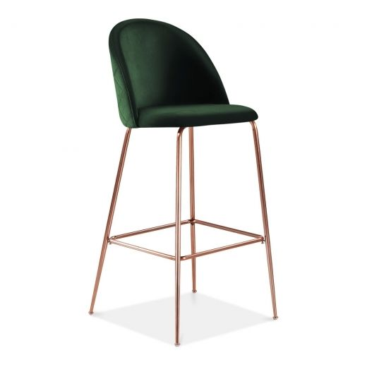 cult studio heather bar stool with backrest velvet upholstered rh pinterest com