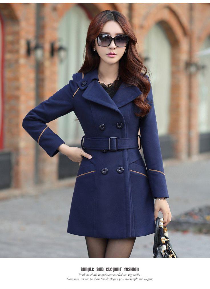 Plus Size 2016 outono e inverno roupas de lã projeto longo casaco feminino moda Slim longo misturas de casaco XXXL em Lã e Mesclas de Moda e Acessórios no AliExpress.com   Alibaba Group