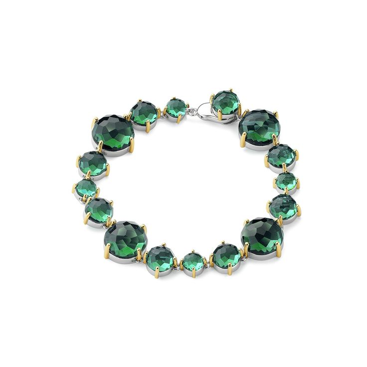 Aqua Green Cubic Zirconia on a Silver Bracelet-copy