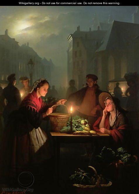 william john hennessy paintings | Vegetable Stall at Night - William John Hennessy - WikiGallery.org ...