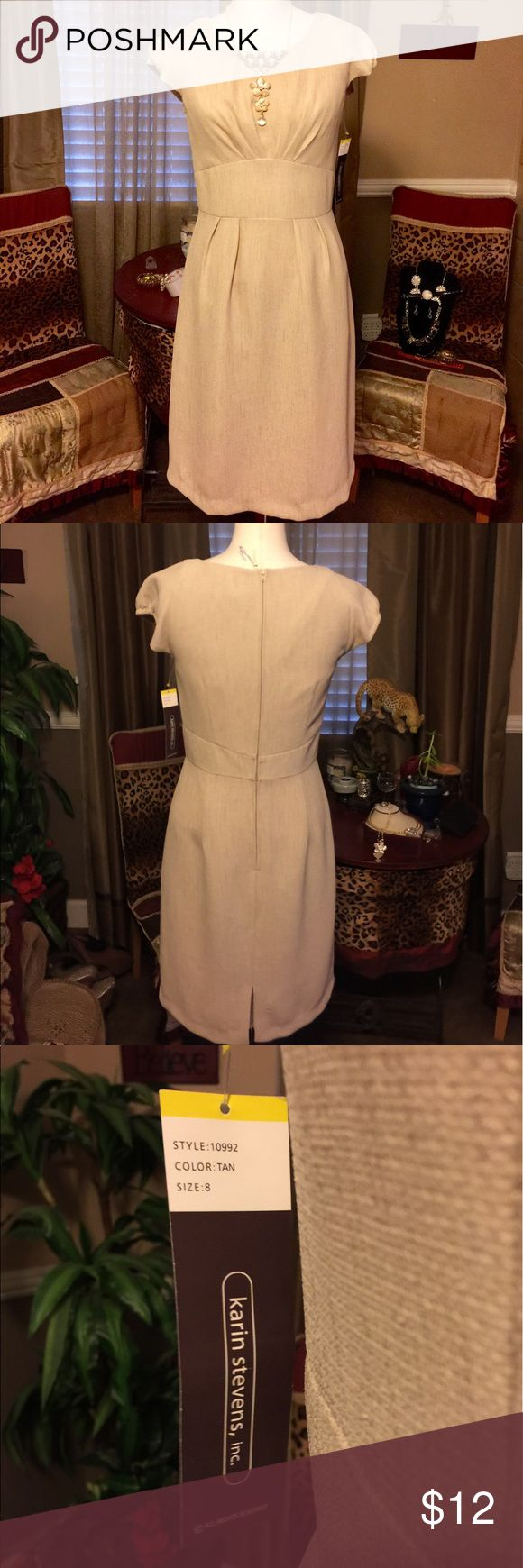 Simple beige dress A great canvas to create your sense of style for almost any occasion. NWT karin stevens Dresses Midi