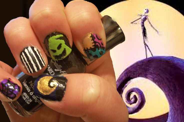 Nail Art Challenge, Day 27: Movie Theme, My movie choice, Nightmare Before Christmas