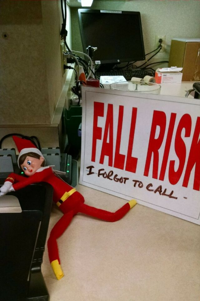 Elf fell off the shelf High fall